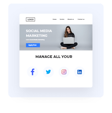 Create landing pages quickly  and easily